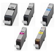 Canon-Compatible-CLI-521-PGI-520-BK-set-5-Stuks-Zonder-chip